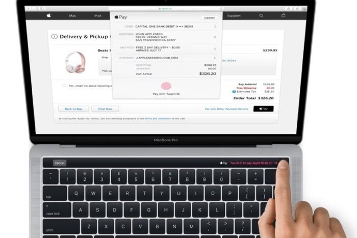macbook pro magic toolbar touch id
