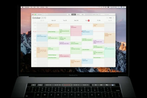 macbook pro touch bar calendar