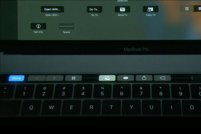 macbook pro touch bar customize