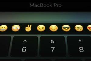 macbook pro touch bar emoji