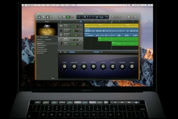 macbook pro touch bar garageband