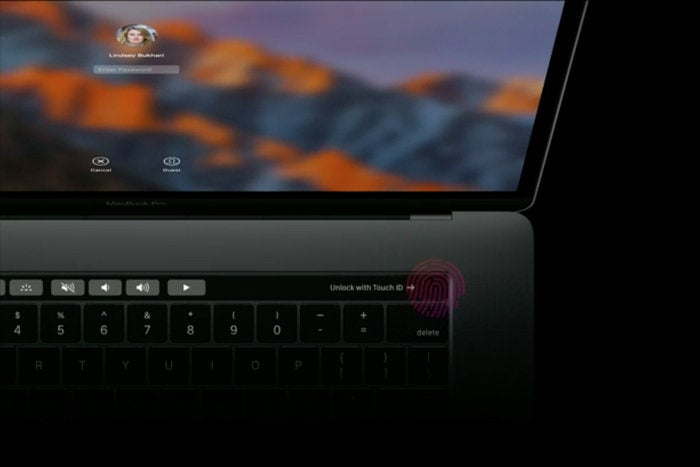 macbook pro touch bar touch id