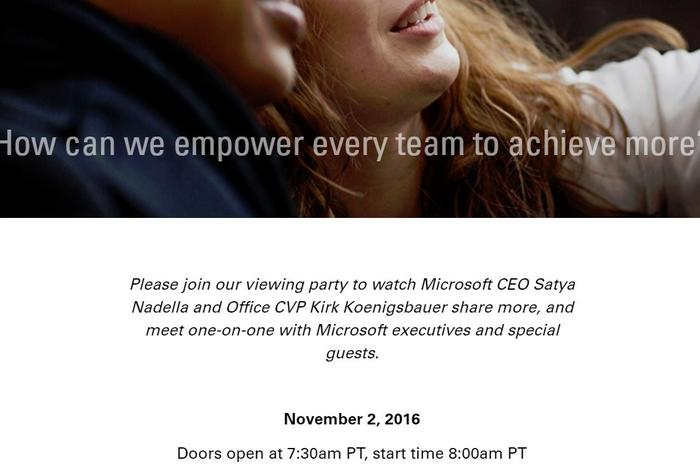 microsoft office event invitation