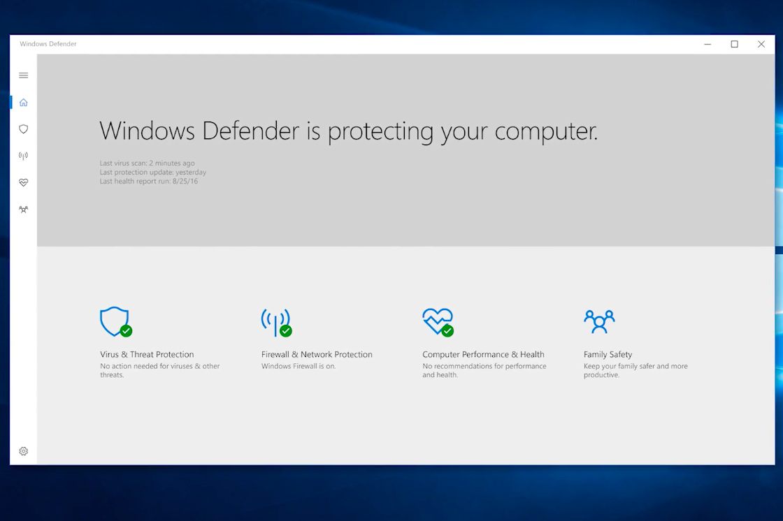11 new windows 10 features microsoft just sneakily for Window defender update