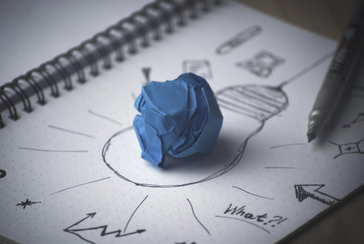 pen idea lightbulb paper innovation invention