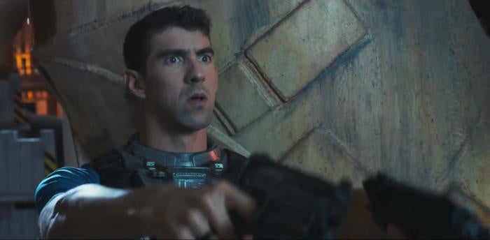 Michael Phelps will shoot you