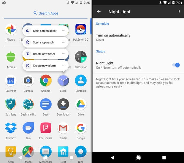 pixel xl android 71 features