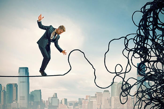 risk complexity tightrope