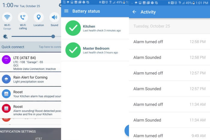 Roost Smart Battery user interface