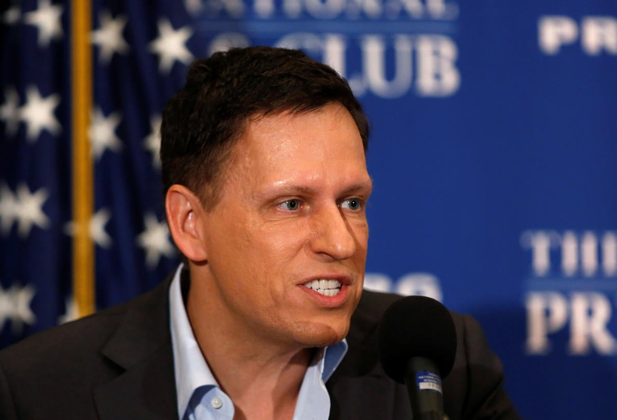 Peter Thiel National press club - Trump defender
