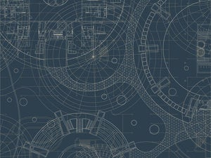 Graphic pattern of blueprint