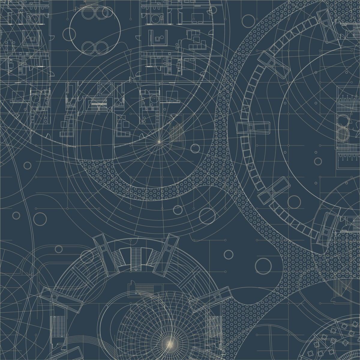 Graphic pattern of blueprint