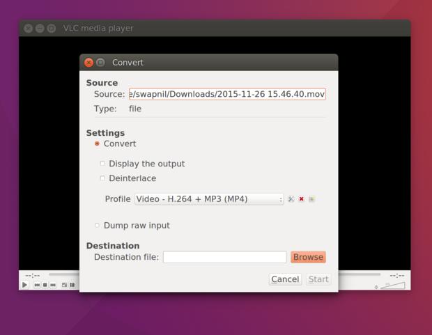 ubuntu destination