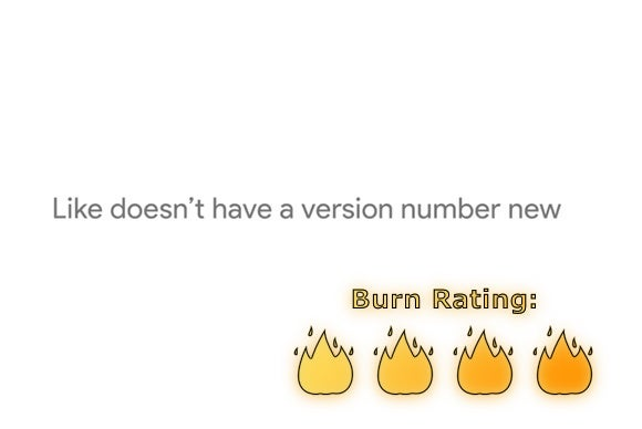 version number burn