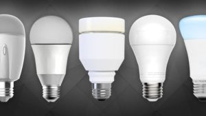 White smart LED light bulbs