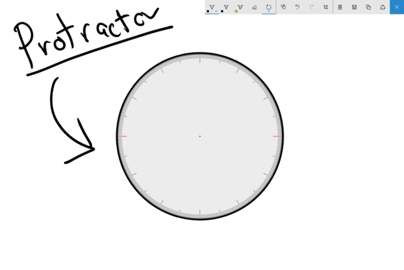 windows 10 ink protractor