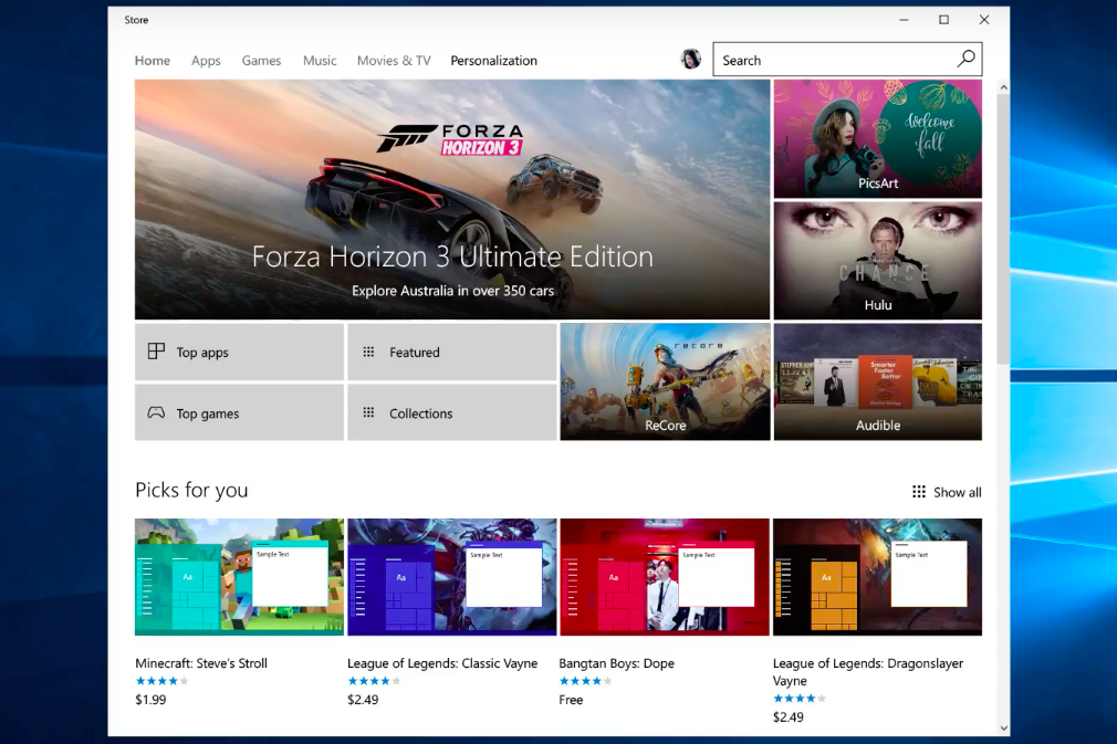 windows store iap sizzle