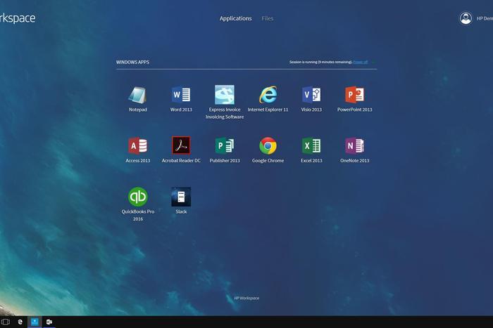 HP Elite x3 Workspace app