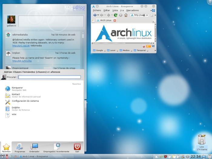 arch linux kdemod4 screenshot