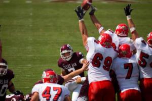 blocked kick football field goal sports