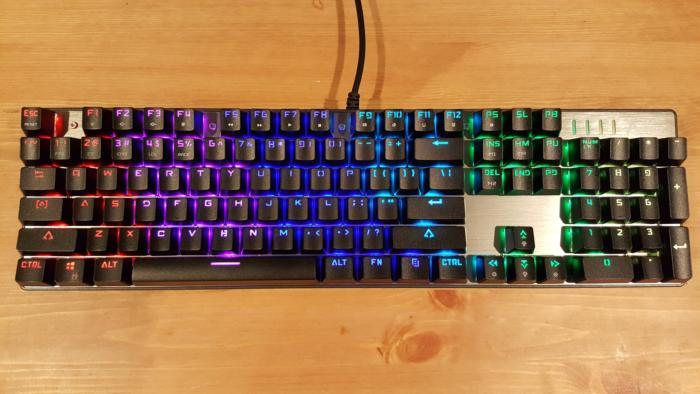 aukey km g3 review this rgb keyboard costs just 80 but there s a