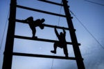 overcome obstacles climb ladder