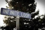 Apple Infinite Loop sign