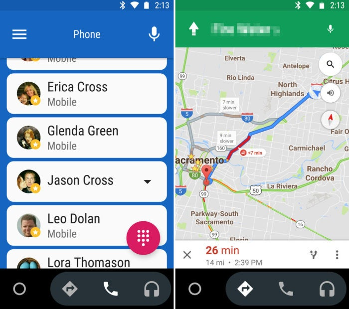 android auto phone screenshot call maps
