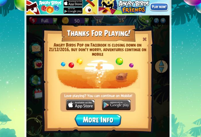 angry birds pop facebook
