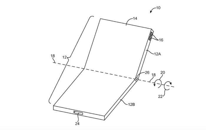 bendable foldable iphone patent apple