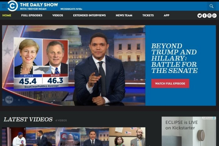 election sites daily show nov 2016