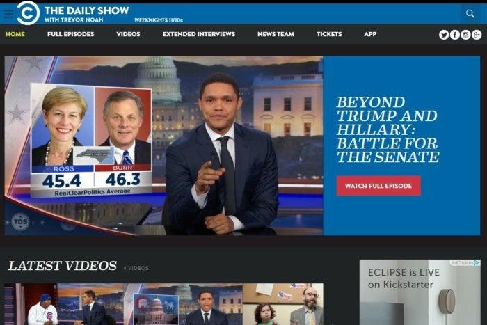 election sites daily show nov 2016