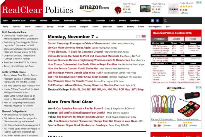 election sites realclearpolitics nov 2016