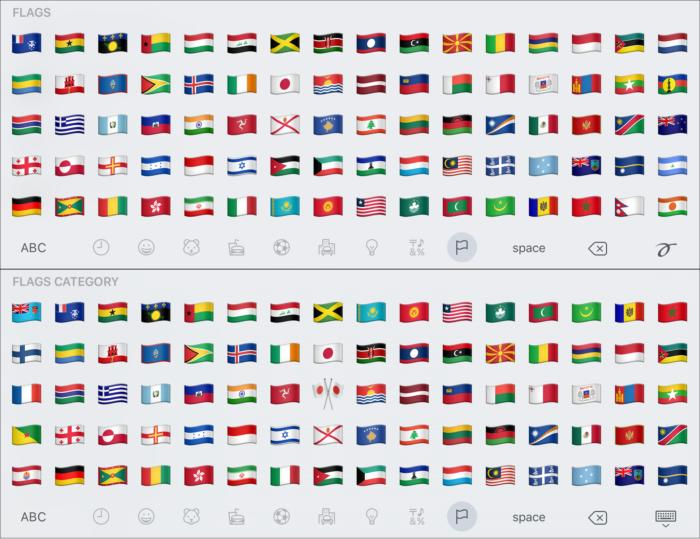 emoji compare flags2