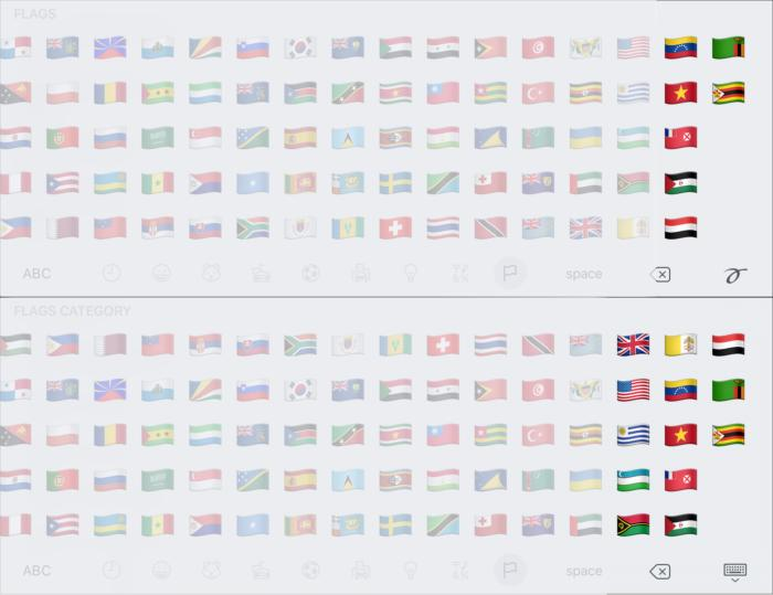 emoji compare flags4