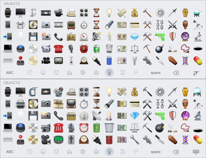 emoji compare objects1