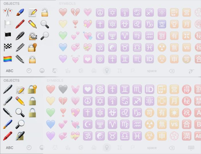 emoji compare objects3