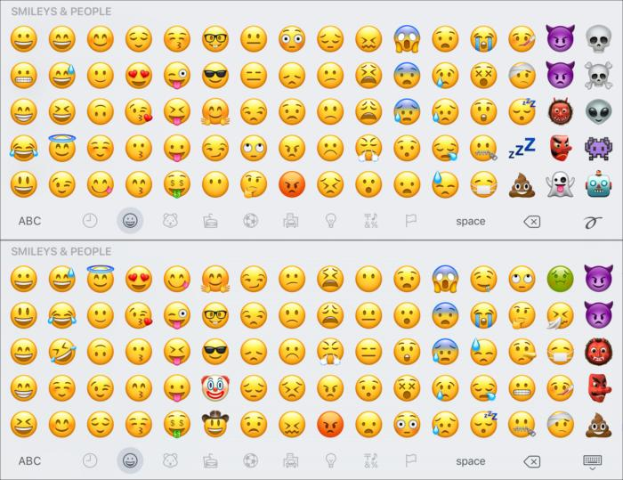 emoji compare smileys1