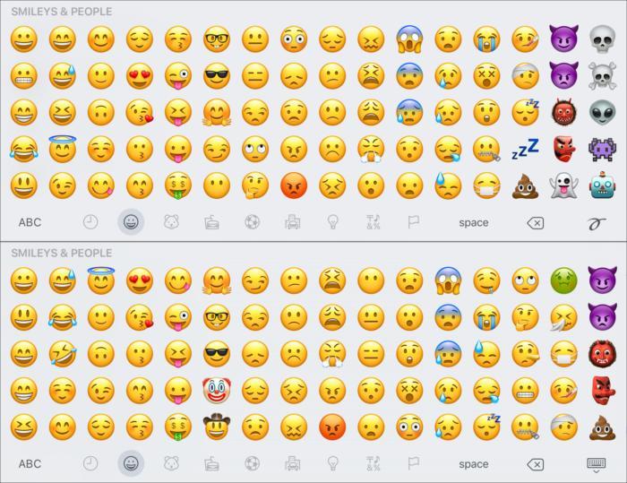emoji compare smileys1