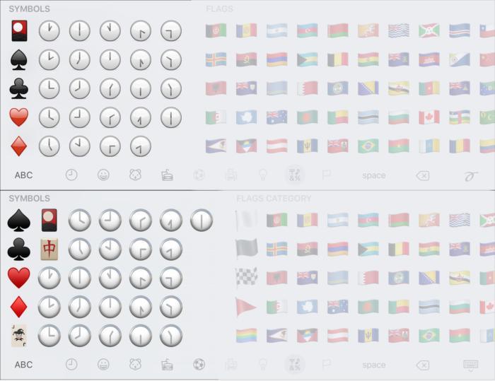 emoji compare symbols4