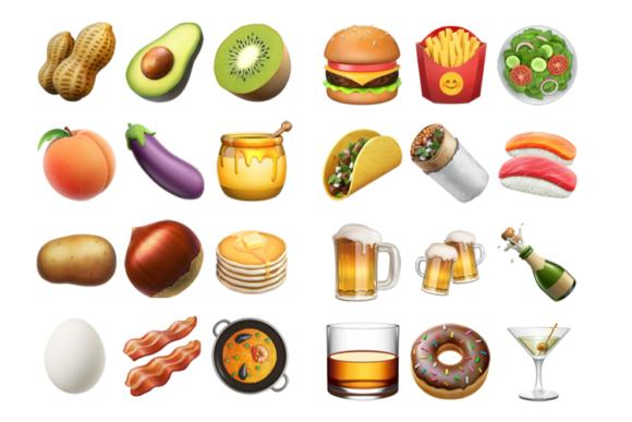 emoji unicode9 ios102 food