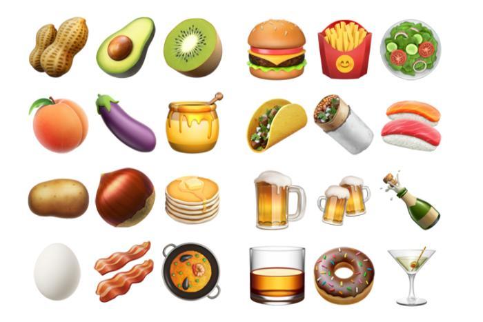 emoji unicode9 ios102 food