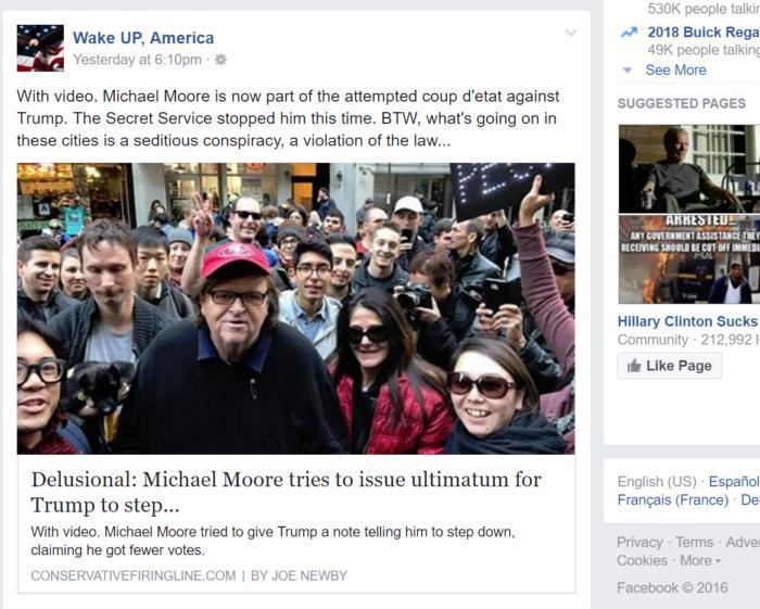 facebook Michael Moore conservative 2