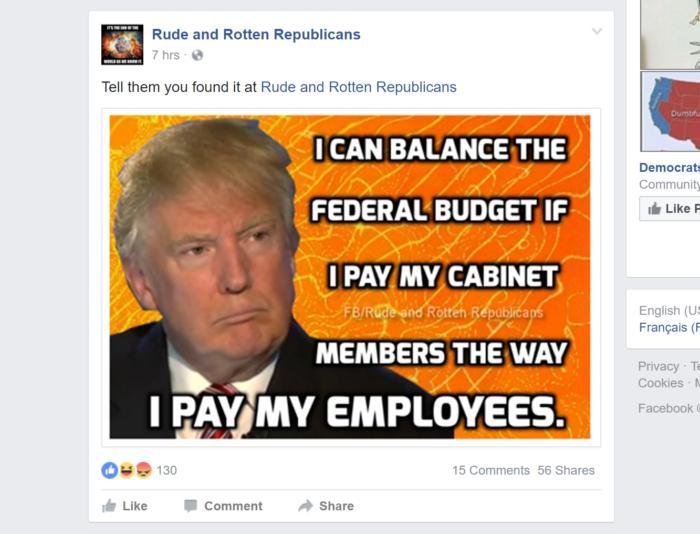 facebook negative trump