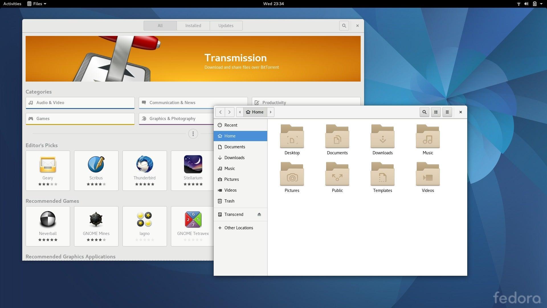 Fedora 25 desktop