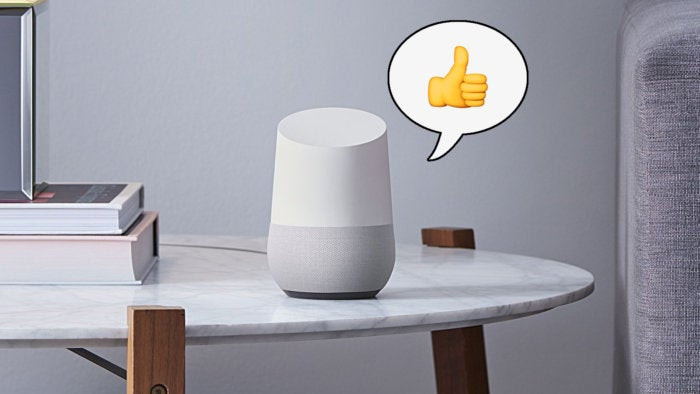 google home fixes playlist thumbs up