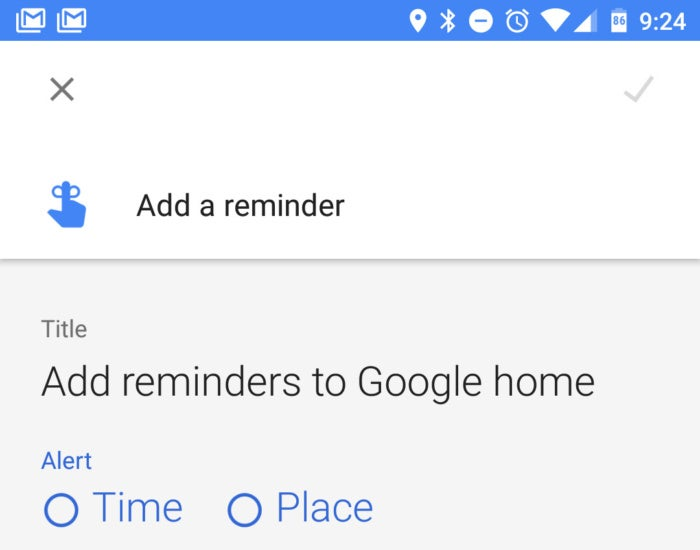 google home fixes reminders