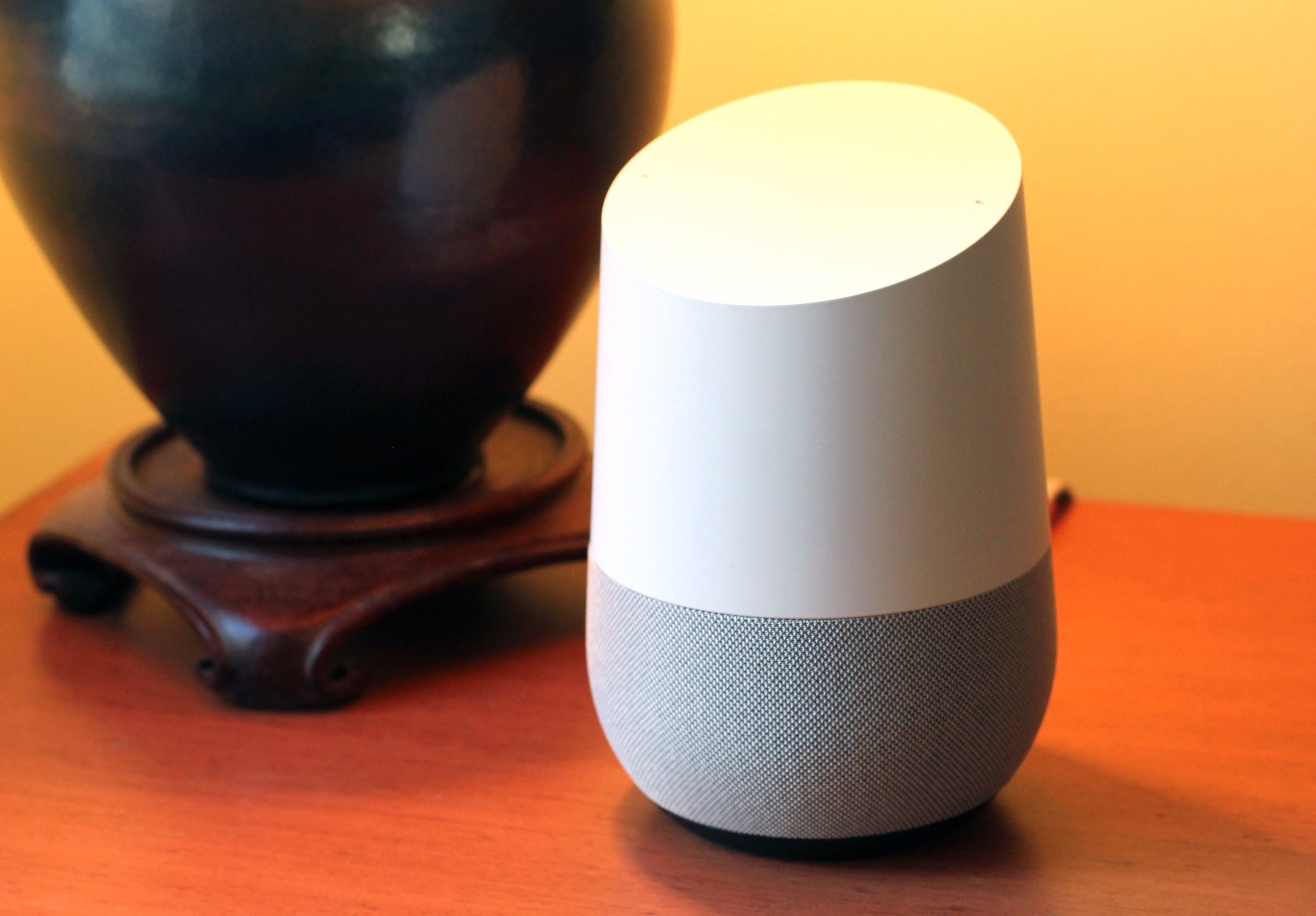 google home review google puts its a i on a nightstand for the win