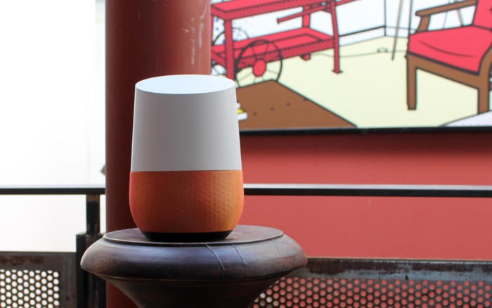 google home straight on