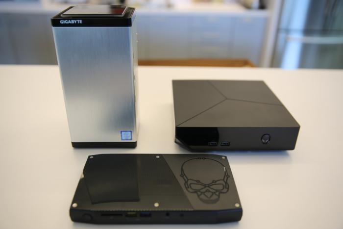 Brix Gaming UHD with Alienware Alpha R2 and Intel Skull Canyon NUC